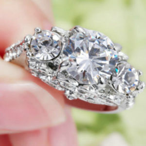Jewelry - Size 6 White Sapphire Ring Women's 10KT White Gold
